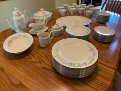 Minton Brookwood Fine Bone China Platinum Trim By Royal Doulton Made In England