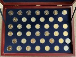 U.s. Presidential Dollar Coin Collection 24k Gold Layered-complete