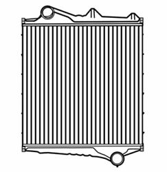 Fits A 1996-2005 Volvo Vn Vnl Vnm Series Charge Air Cooler W/ Bar And Plate