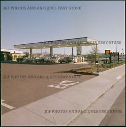 Early 1970s Shell Gas Station Cars Medium Format Color Negative 2 Stephen Shore