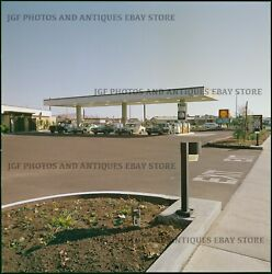 Early 1970s Shell Gas Station Cars Medium Format Color Negative 1 Stephen Shore