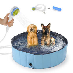 48 Swimming Pool Collapsible Kid Dog Cat Pet Bathing Tub Shower Sprayer Outdoor