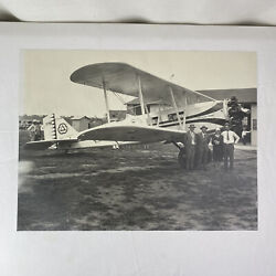 Cities Service Oil And Gas Prop Plane Airplane Vintage Black And White Photograph
