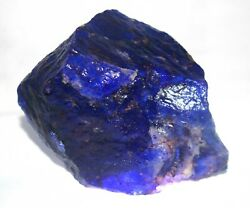 Certified 7170 Ct Aaa Blue Tanzanite Natural Huge Gemstone Rough Big Offer Gy543