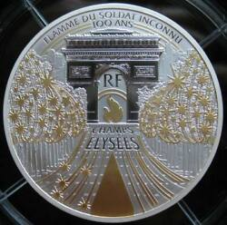 France 50 Euro 2020 Silver Proof 5oz Gilt Coin Les Champes-elysees Coa And Box