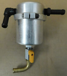 Moroso 85474 Pcv Air/oil Separator Polished Aluminum W/fittings And Mount