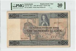 Netherlands 500 Gulden 1930 Replacement Ship Galleon Pick 52 Pmg Very Fine 30