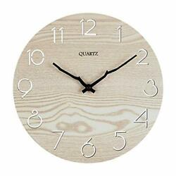 12 Inches Silent amp; Non Ticking Wall Clocks Large Round Decorative Clocks for ...