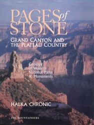 Pages Of Stone Geology Of Western National Parks And By Halka Chronic Mint