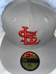 7 1/4 St. Louis Cardinals Grey 1940 All Star Game Red Bottom Fitted Hat