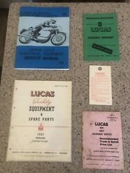 Vintage Collectable Lucas Motorcycle Parts Catalog/book/manual 1957 Indian