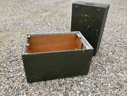 Vintage Military Wooden Ammo Crate Box Ammunition / Explosives / Gear