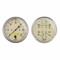 Auto Meter For Antique Beige 5in Speedometer / Quad Analog Gauge Kit - 1803