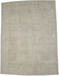 Vintage Hand-knotted Classic Floral 8x11 Antique Distressed Oriental Rug Carpet