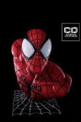 Spider-man 11 Scale Life Size Bust New / Sealed Spiderman Co Signature Happy
