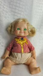 Vintage 1970 Ideal Me So Silly Collapse String Doll Push-in Belly Button Bp