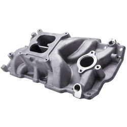 Intake Manifold Small Block Fit For Chevy Sbc Vortec Dual Plane 350 383 327