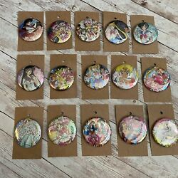 Sailor Moon 2andrdquo Buttons Pinbacks 15 Crafted From Vintage Holographic Stickers