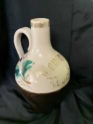 Antique Bouquet Whiskey Humphrey And Martin Bottle Stoneware Hand Painted Phil