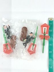 2 Vintage Drunk Man And Lamp Post Decoration Cake Toppers Party Liquor Alcohol