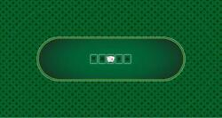 Green 104 X 62 Sublimation Poker Gaming Table Top Felt, Waterproof Polyester