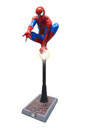 Spider Man Statue On Light Post Life Size Prop W/ Working Light Marvel Display