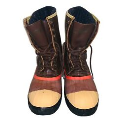 Men's Sorel Sentry Kaufman Work Safety Steel Toe Duck Boots Size 10 Made Canada