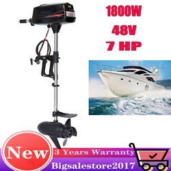 Hangkai 1800w Brushless Electric Boat Outboard Motor Fish Boat Engine 24v Us New
