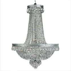 Luxury Crystal Chandelier French Empire Pendant Lamp Classic Hanging Light