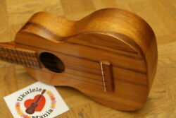 Kamaka Rare 1960and039s Vintage Gold Label All-koa Tiki Concert Ukulele 4079