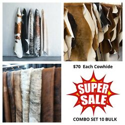 New Cowhide Rug Value Combo Sets Large Size 10 Bulk - Your Own Selection 70