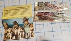 Rare Two 1940andrsquos Very Early Arbogast Rubber Hula Skirts- Original Packages And Pap