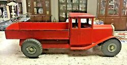L.b. Limited Tri-ang Made In England 1940and039s Pressed Steel Dump Truck R/h Drive