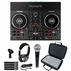 Numark Party Mix Live Built In Light Show And Speakers Dj Controller W Case And Mic