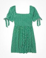 American Eagle Green Floral Dress S