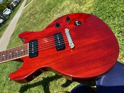 2015 Gibson Les Paul Special Double Cut Dc 100 Gloss Cherry Red P-90and039s 7.9 Lb