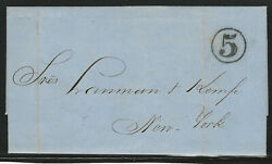 Puerto Rico 1861 Stampless Cover, With Letter, Sent From Mayaguez To New York
