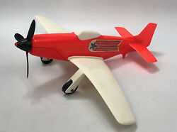 """Rare Vintage Gay Toys Inc. 13.5"""" Plastic White And Red Toy Airplane 951 Usa Aa"""