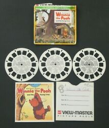 Winnie The Pooh Gaf View-master 3 Reels W/ Book And Sleeve - 21 Stereo Pictures