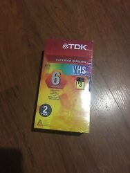 Vhs T-120 Tdk 6 Hours Recording Video Tape New Sealed