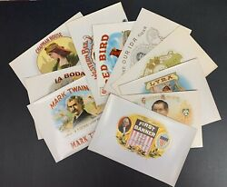 Lot Of 10 Different Early Cigar Box Labels Circa 1920and039s - 1940and039s Unused