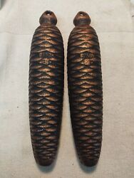 New Cuckoo Clock Parts 1750 Gram Pine Cone Weights 1 Pair For 8 Day Movements