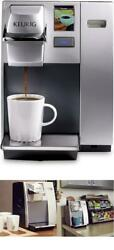 Powerful Coffee Maker Machine With K-cup Pod Coffee Single-serve Brewer, Silver