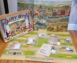 1916 Fairy City Playset Giants Of Lilliputania Toy Antique Complete Buildings