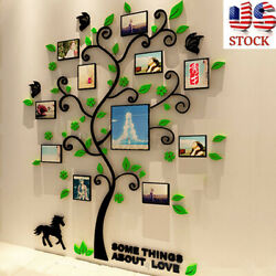 Removable Family Photo Frame Tree Room Wall Sticker Decals DIY Home Decor Gift