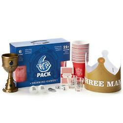 6-pack Drinking Games Kingand039s Cup Beer Pong Chandelier Quarter Toss 3 Man...
