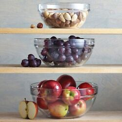 Pampered Chef Glass Mixing Bowl Set 1752 - Free Shipping