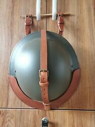 Wwii Ww2 Uk Army British Mk2 Steel Helmet And Leather Cover Set