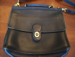 Coach Willis Bag Black Flap EUC Made in USA 9927 a classic Lightly used $50.00
