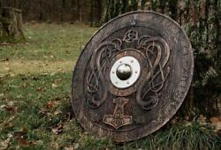 Medieval Viking Shield With Carved Norse Runic Ornaments Medieval Shieldgot